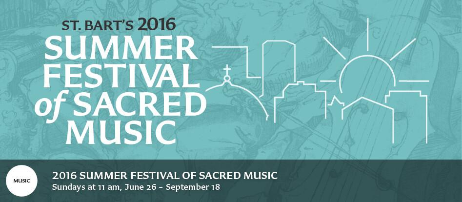 Summer Festival of Sacred Music