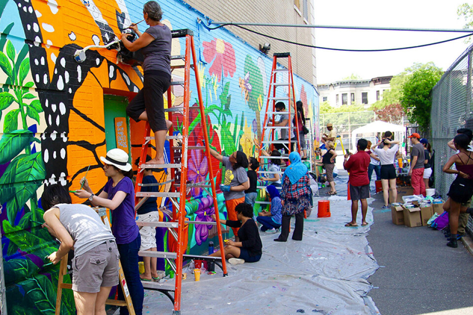 Mural Painting with Thrive Collective