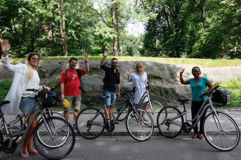 Relaxed Saturday Cycling in Central Park